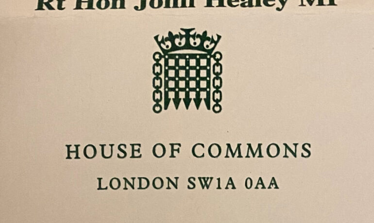 A Letter from MP John Healey